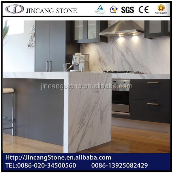 Carrara White Marble Prefab Laminate