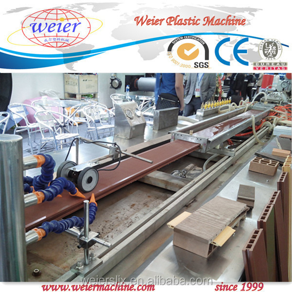 2014 new type hot sale wood plastic composite machine; wpc extrusion machine for outdoor floor, fence, railing