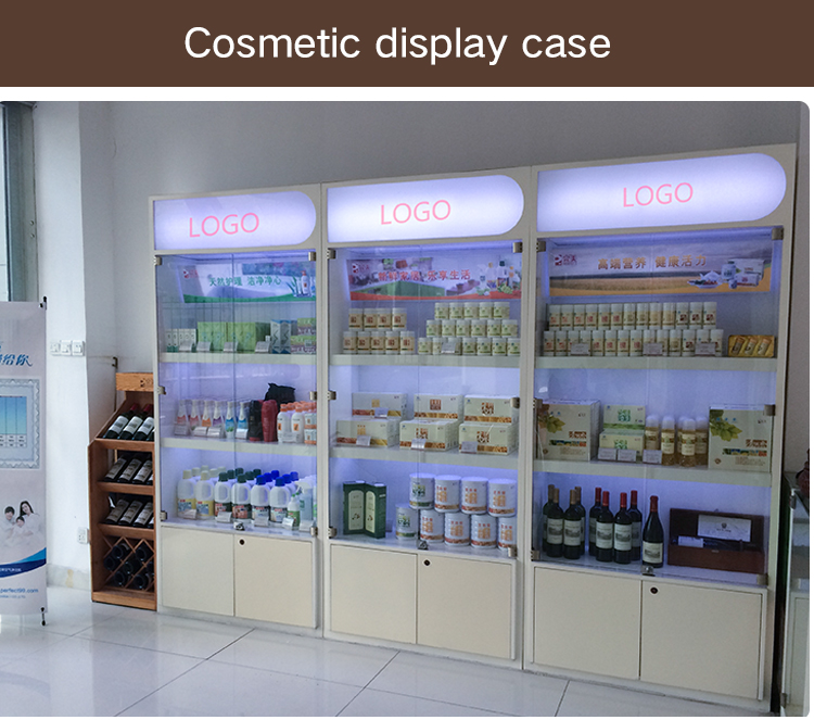 Factory Direct Sale Customized cosmetics display furniture store cabinet