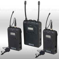 UHF Dual-Channel Professional wireless microphone system for camera, camcorder and recording devices