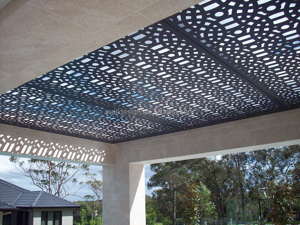 Outdoor perforated metal ceiling buy outdoor perforated for Aluminum decoration