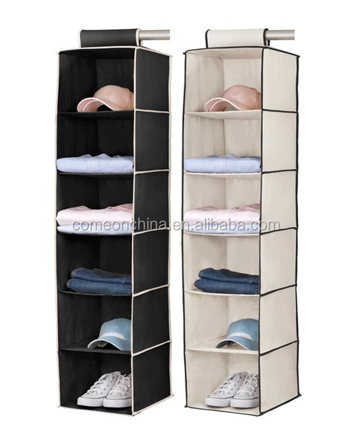 6 Shelf Foldable Clothes Hanging Closet Organizer Buy Hanging