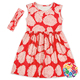 New style baby girl sleeveless red flower apparel dress