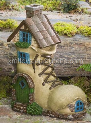 Hot Selling Factory Custom Fairy Shoes Shape House for Garden Decoraction