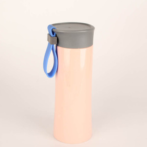 12oz Pink Car Hold To Go Stainless Steel Coffee Mug Thermos with Screw Lid & String