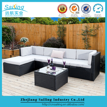 Rattan Garden Furniture L Shape rattan modular corner sofa set l shape 6piece assembled outdoor