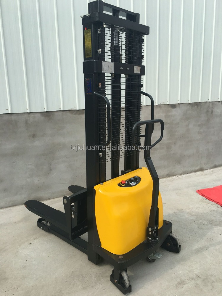 Easy operate latest promotion price semi-electric power pallet forklift