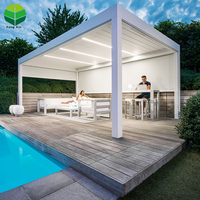 Garden Buildings Motorized Flat Roof Pergola Electric Bioclimatic