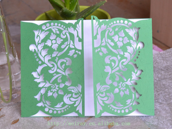 Wedding Invitation Cards Buy Online: Aliexpress.com : Buy Invitation Cards Green,laser Cutting