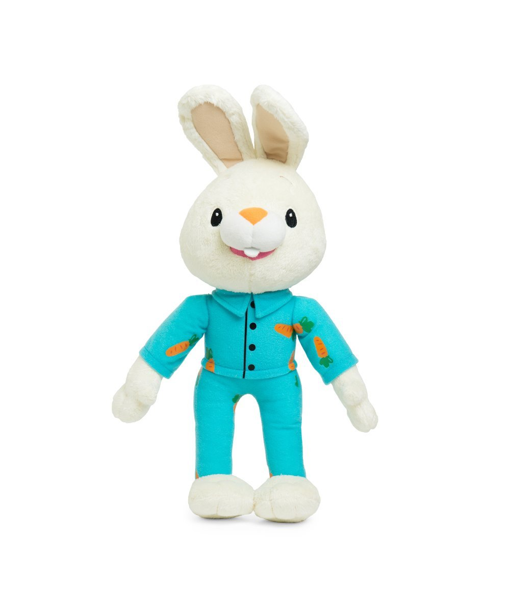 BUNNY OF THE YEAR - Baby First TV - Bedtime Harry the Bunny Soft Plush Toy - Baby Shower Gifts - Lovey Security Blanket - Toddler Toys - Baby Gift - Baby Toys for Boys - PERFECT BIRTHDAY GIFT