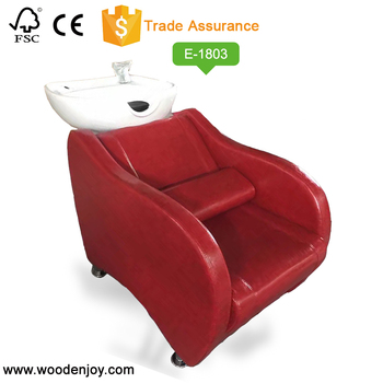 2018 new Red Atmospheric Top Grade Shampoo Bed Reclinable Shampoo unit E1803
