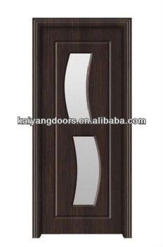 Romania/Turkey/India PVC Mdf Wooden Glass Design House Door