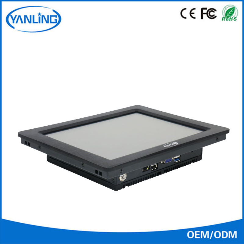 "Yanling 10.4"" core i3 4010U fanless panel pc embedded system industrial computer price lower than most brand"