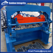 Galvanized Embossment Steel Floor Decking Plate Roll Forming Machinery