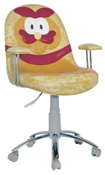 Vintage Leather Cartoon Chairs With Wheels Children Computer Studying Chair Kids