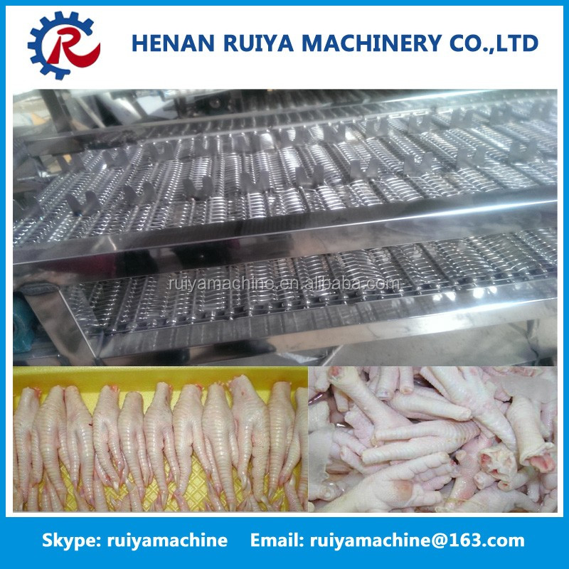 stainless steel chicken paw cutting machine / chicken feet cutter/ chicken toe splitter