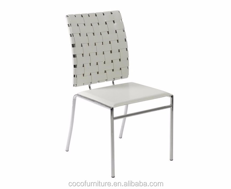 Micro Leather Straps Dining Chair 96012