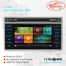 car radio for Toyota Hilux/ Revo 2017 dvd gps navigation support parking sensor bluetooth phonebook swc rds with FREE camera