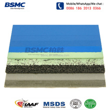Wet Poured SPU Silicon Polyurethane SBR Rubber Sports Flooring