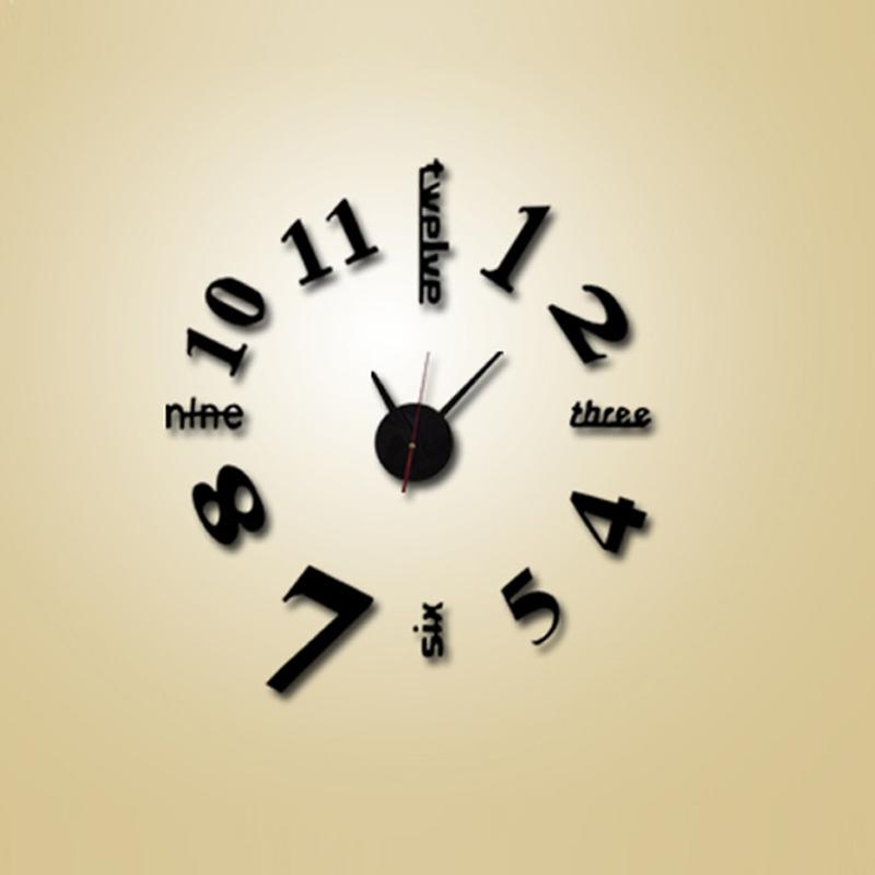 d relojes de pared reloj de pared reloj grande decorativo pegatinas diy diseo moderno saln de