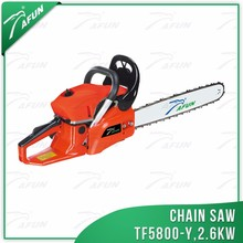 "China 58cc single cylinder cheap 5800 oil chainsaw with 22"" top quality guide bar for sale"