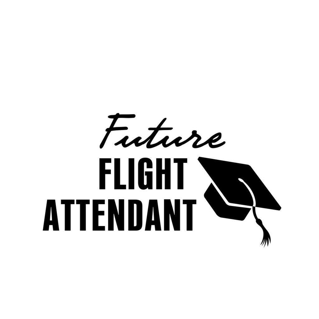 ShirtMania FUTURE FLIGHT ATTENDANT Career Occupation Car Laptop Wall Sticker