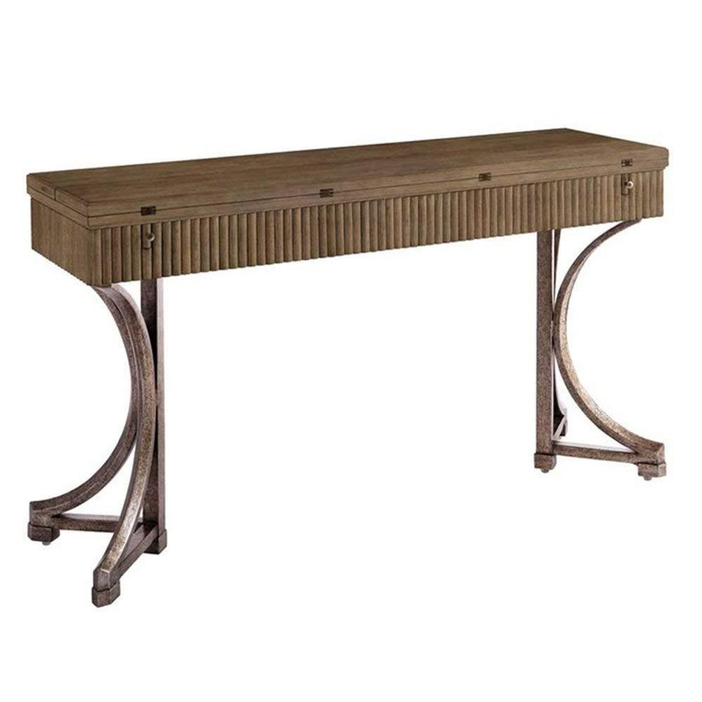 """Coastal Living Resort Flip Top Table - 56""""W Dimensions: 56.31""""W x 16.31""""D x 31""""H Weight: 145 lbs Deck Finish"""