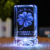 Four-leaf clover 3d laser crystal engraving as a blessing gift