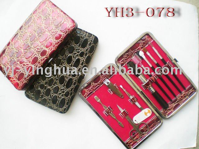 Beauty and personal care nail tools and makeup brush manicure set