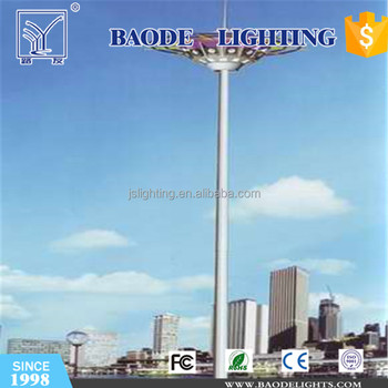 High quality and customized octagonal shape 30m high mast lighting pole