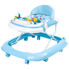 kids outdoor activity 8 wheels pushing inflatable baby walker