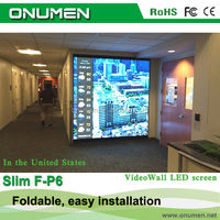 Shenzhen New Tehnology products P6mm portable flexible foldable led curtain screen