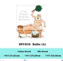 Набор для вышивания крестиком 14ct 11ct, Набор для вышивания крестом из мультфильма «Люди мультфильмов», ткань без печати, сделай сам, рукоделие...(Китай)