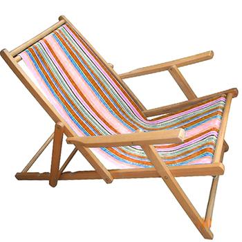 Sea Bathing Type Sling Chair Folding Deck Chair Canvas