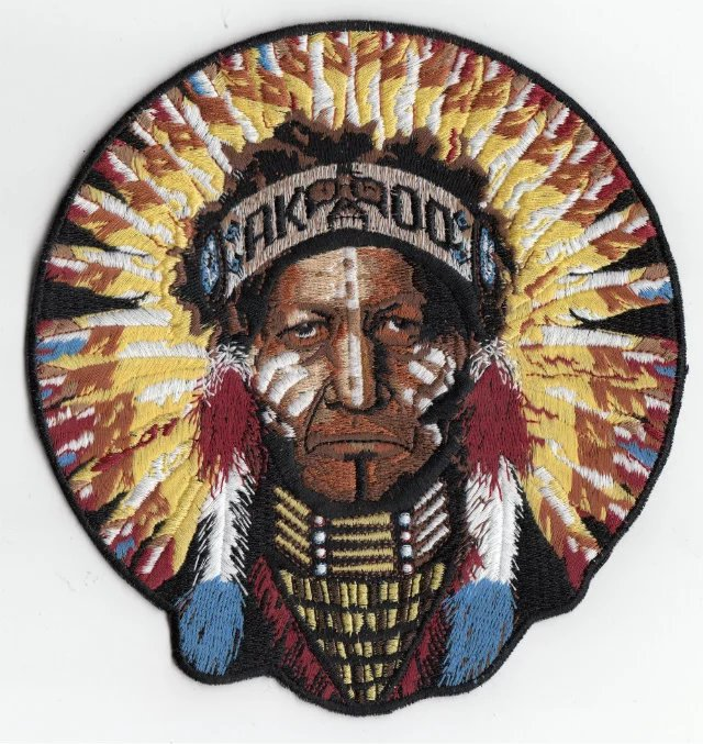 Best quality American Indian theme customized embroidery patches for Festival