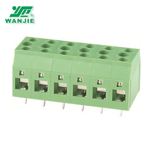 Factory Price WAN JIE Phoenix 7.5mm pitch double screw terminal block connector (WJDS4-7.5)