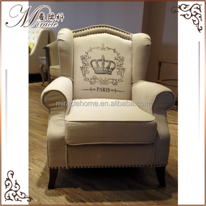 fabric upholstered new model king throne chesterfield sofa chair