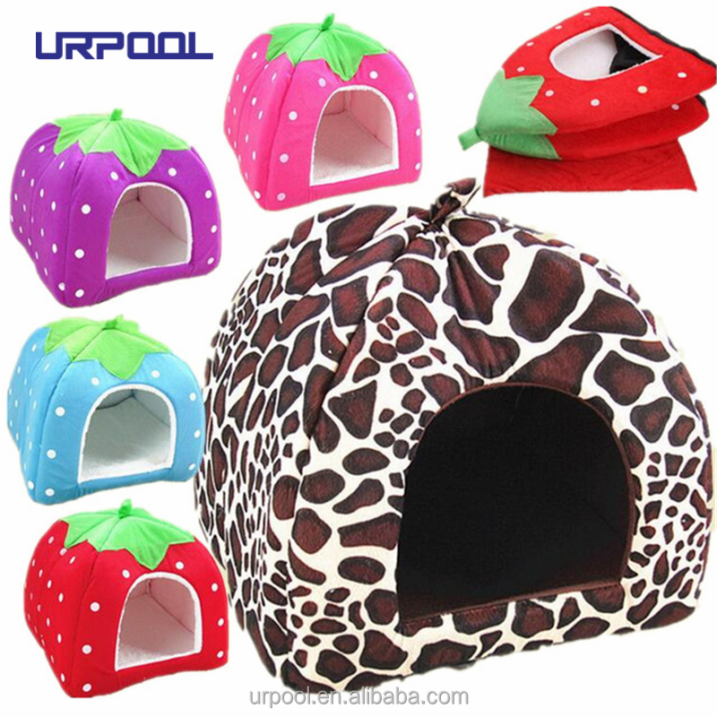 Foldable Soft pet House Innovative Pet Tent Beds Warm & Comfortable Cat House Igloo pet yurt tent