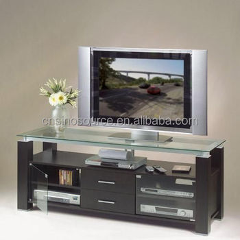 Hot Sale Modern Wooden Led Tv Stand Furniture With Glass Showcase