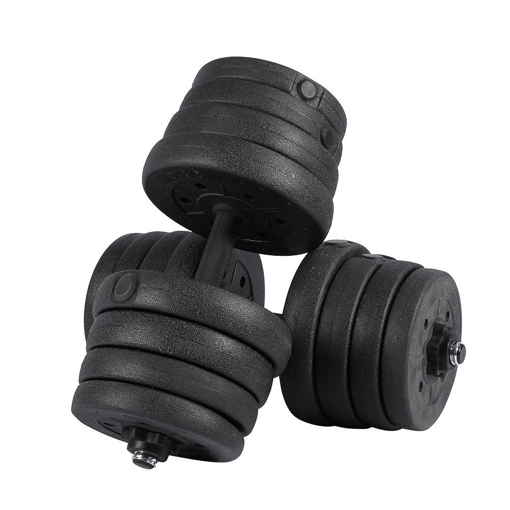 Weight Dumbbell Set 30KG (2 Pcs) Adjustable Cap Barbell Plates Gym Strength Workout