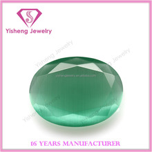 Loose faceted fake acrylic opal oval factory price green wholesale in stock