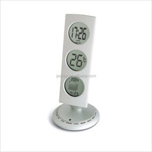 Metal Thermometer World Time Alarm Clock