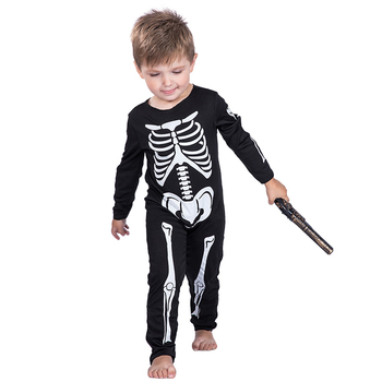 fashionable halloween children little boys toddler skeleton black costumes kids cosplay party costumes
