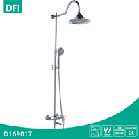 Bathroom faucet wall mounted brass chrome finish bathroom heated shower head