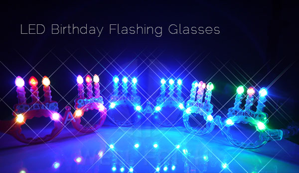 Most Popular Led Birthday Cake Lighting Sunglasses Happy