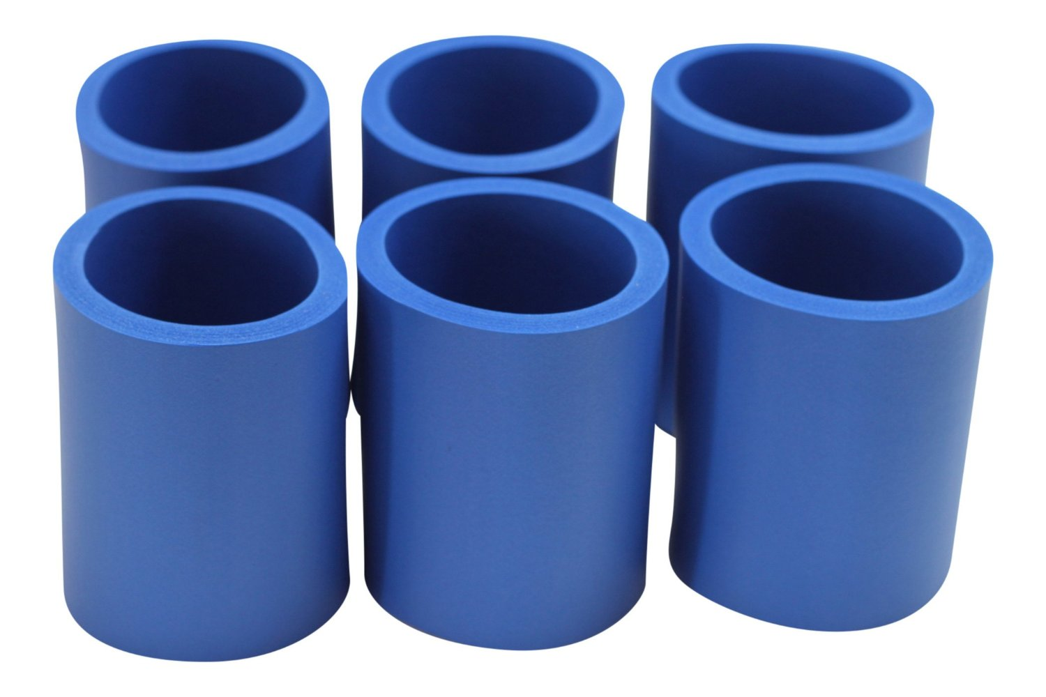 Can Coolers/Non-Collapsible Foam Beverage Can /Set of 6 Royal Blue