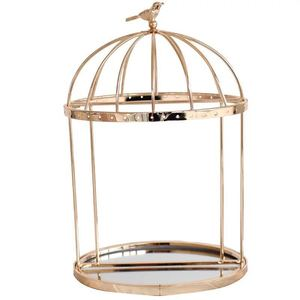 European Retro Birdcage Metal Jewelry Bracelet Necklace Rack Display Holder