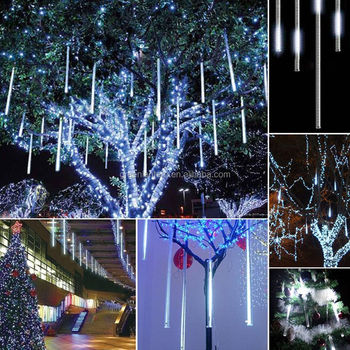 80cm rain dropicicle snow fall string led christmas tree decoration cascading meteor light decoration
