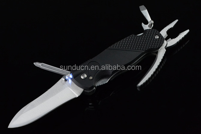 8 in 1 Knife 440 Steel Blade Fiberglass Handle Multitool Knife Multifunctional Tool Folding Pocket Knife