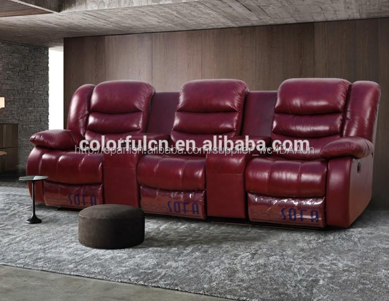 El mejor cuero sofá reclinable/sofá de la sala/sofá reclinable ...